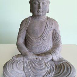 "Volcanic Ash Meditating Buddha 18"" Stonewashed"