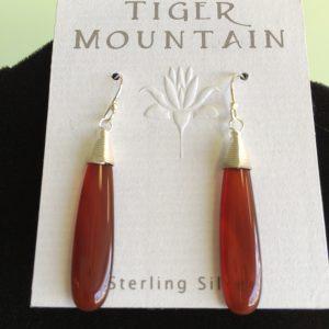 Sterling Siver Bronze Long Earrings