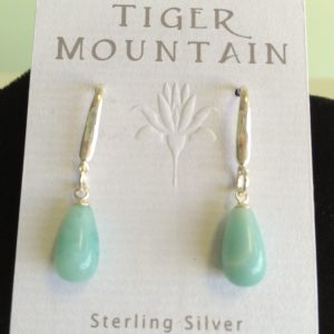 Sterling Silver Aqua Earrings