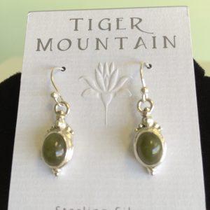 Sterling Silver Jade Earrings
