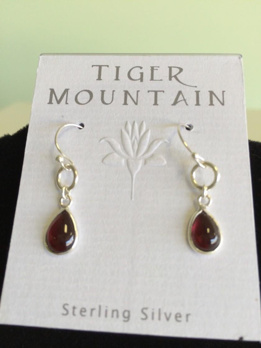 Sterling Silver Ruby Red Earrings