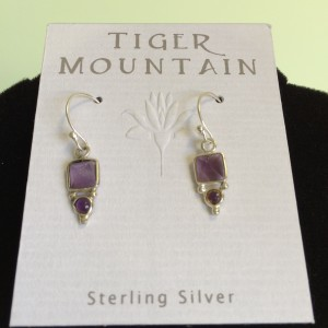 Sterling Silver Purple Earrings