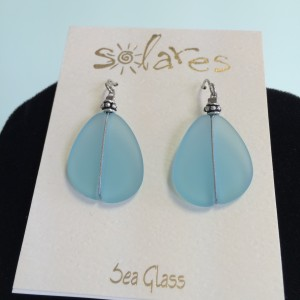 Light Aqua Sea Glass Earrings