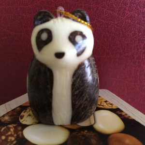 Tagua Nut Panda Bear, Sitting