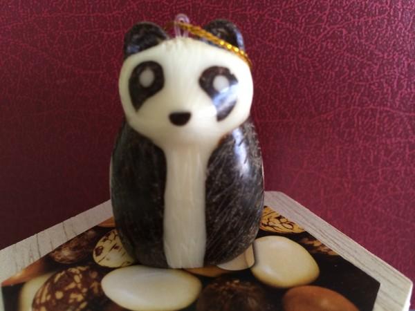 Tagua Nut Panda Bear, Sitting