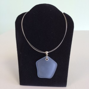 Light Blue Sea Glass Necklace