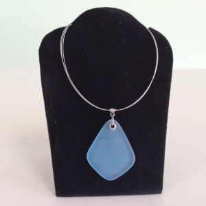 Blue Sea Glass Necklace