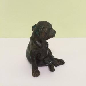Empress Ats bronze puppy statue