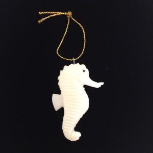 Tagua Nut Seahorse Ornament