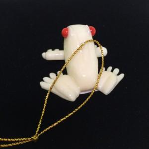 Tagua Nut Frog Ornament