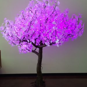 8' Tall White Maple LED Tree Color Changing