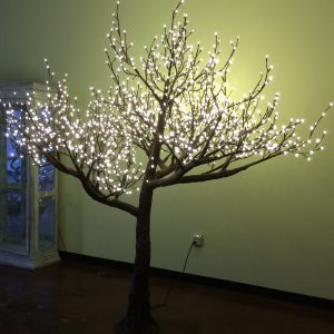8' Tall No Flowers LED Tree