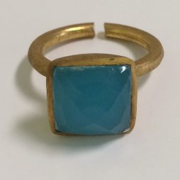 Delicate Blue Chalcedony Ring