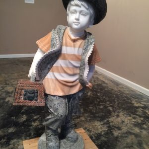 Marble Statue Little Boy with Cowboy HatLittle Boy with Cowboy Hat Statue