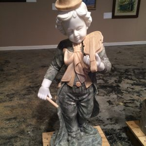 Marble Statue Little Boy with Violin