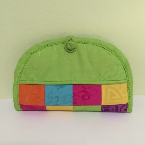Chinese Green MultiColor Bottom Coin Purse