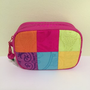 Chinese Multi Color Square Coin Purse w/zipper