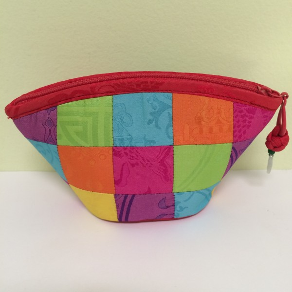 Chinese Multi Block Color Coin Purse