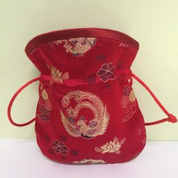 Chinese Brocade Coin Pouch, Red
