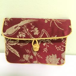 Chinese Soft Tie Clasp Coin Purse, Red