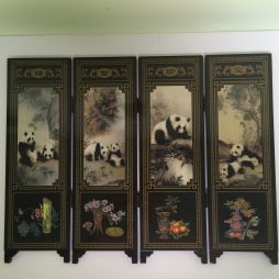 Chinese Panda Bear Miniature Screen