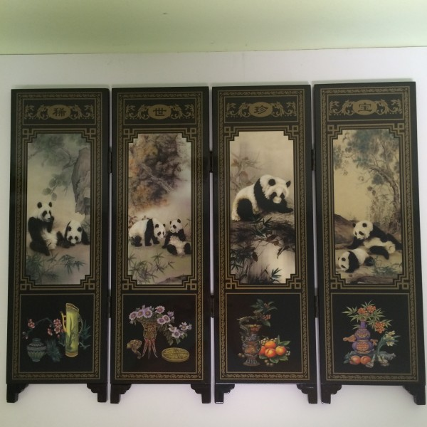 Chinese Panda Bear Miniature Screen