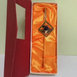 Chinese Gold Book Marker with Red Box