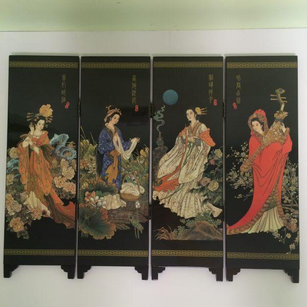 Chinese Women Minature Screen