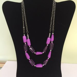 Fashion Necklace & Earring Set, Lavender 142