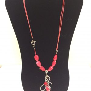 Fashion Necklace & Earring, Red Set 143Fashion Necklace & Earring Set 143