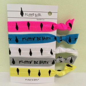 Packaged Hair Ties, Printed 5 Pack
