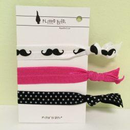 Packaged Hair Ties, Printed 3 Pack