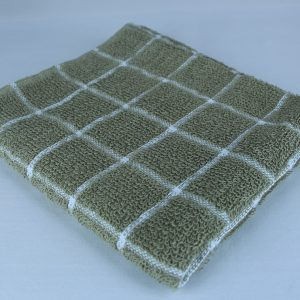 Dish Towel, Green Check