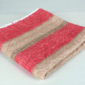 dish towel, red and brown stripes
