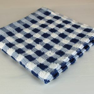 Dish Cloth, Blue and White Check