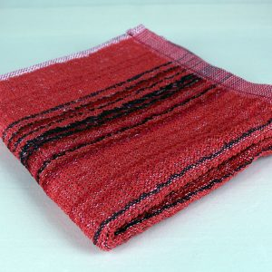 Dish Towel, Red and Black Stripe
