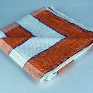 Dish Towel, white, orange, purlple stripes