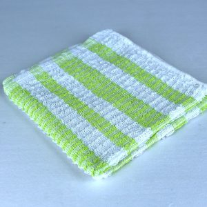 Dish Cloth, Light Green Stripe
