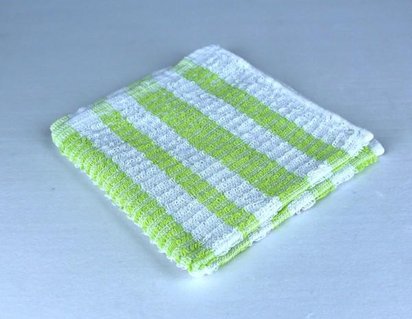 Dish Cloth, Light Green Stripe