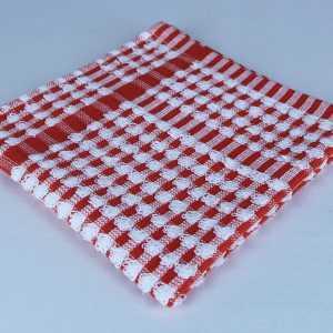 Dish Cloth, Red and White Check