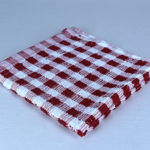 Dish Cloth, Red and White Checkheck
