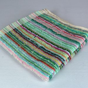 Dish Towel, Green Multi-Stripe