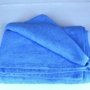 Bath Towel, Blue, 100% Cotton