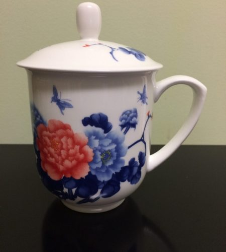 Blue & Pink Floral Tea Cup